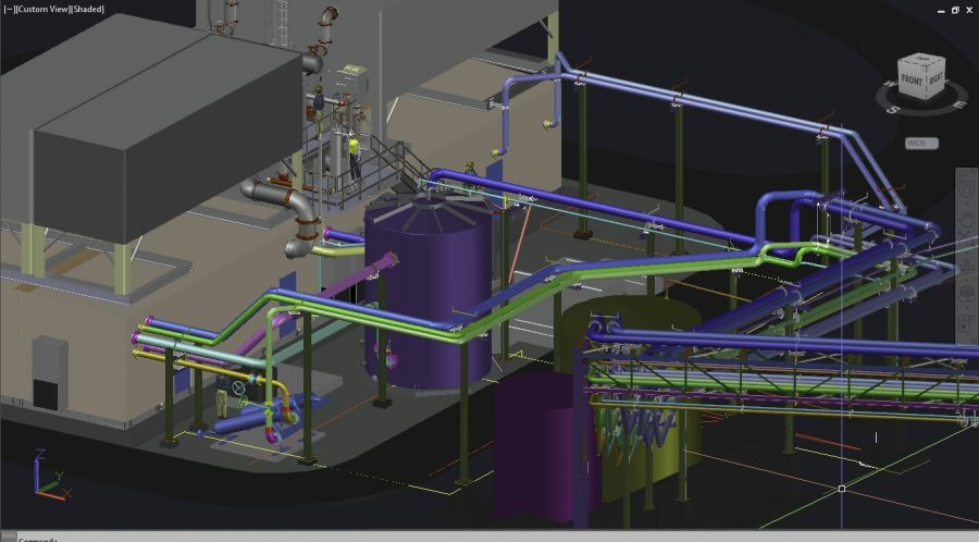 3D Piping and Chiller Design by VITOK Engineers